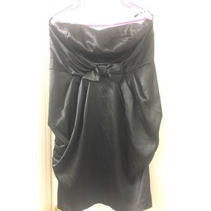 Torrid black strapless dress